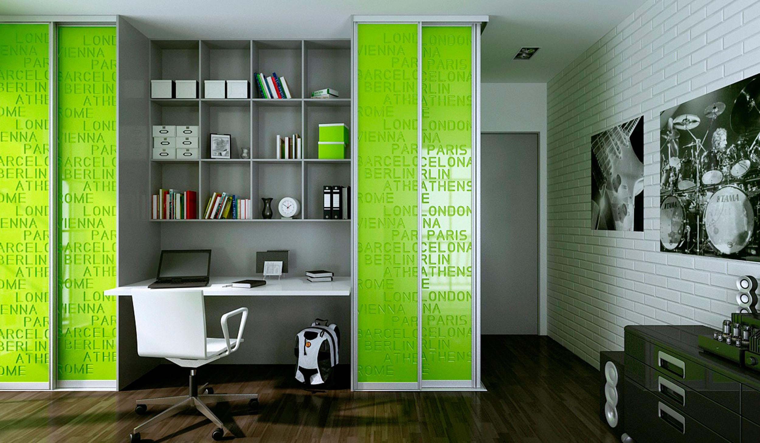 Шкаф купе детская комната дизайн для мальчика.